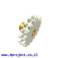 גלגל שיניים רב שימושי 17 שיניים - כפול עם רכזת