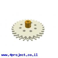 גלגל שיניים רב שימושי 28 שיניים - כפול עם רכזת