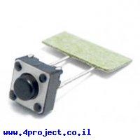 """כפתור מיני 6x6 מ""""מ - PTH 5mm"""