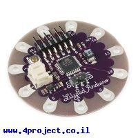כרטיס פיתוח Arduino LilyPad פשוט עם מעגל טעינה לסוללות LiPo