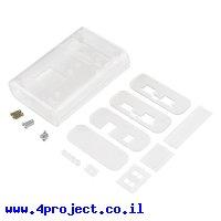 מארז פלסטיק לכרטיסי pcDuino ו-Arduino - שקוף
