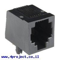 מחבר RJ11/RJ14/RJ25 6 Pin לטלפון