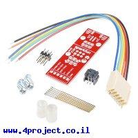 מתאם ISP לצריבת AVR עם פינים קפיציים