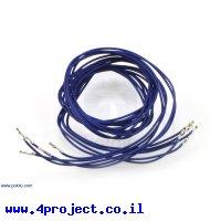 """חוט גישור ללא מארז - נקבה/נקבה 90 ס""""מ - חבילה של 5 כחולים"""