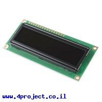 LCD טקסט OLED 16x2, צהוב על שחור, 5V