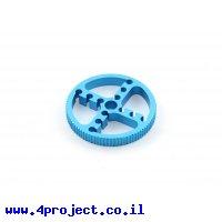 """גלגלת רצועת תזמון MXL 6mm לציר 8 מ""""מ - 90 שיניים - אלומיניום"""