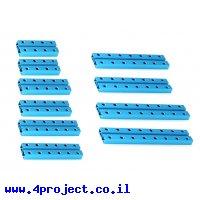 """פרופיל אלומיניום 8x24 מ""""מ - ערכה של 10 יחידות 5 סוגים קצרים - דגם קודם"""