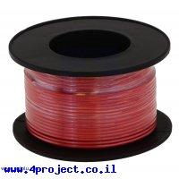 חוט רב גידי גמיש - AWG30 - אדום - 30 מטר