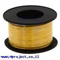 חוט רב גידי גמיש - AWG30 - צהוב - 30 מטר