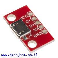 כרטיסון עם מחבר USB MicroB נקבה - SparkFun