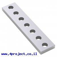 """לוח מחורר 8x8, מידות 12x56 מ""""מ, 1x7 חורים, אלומיניום - 2 יחידות"""