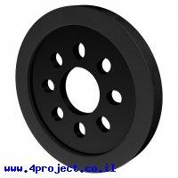 """גלגל דיסק 48 מ""""מ לתבנית goBILDA - שחור - זוג"""