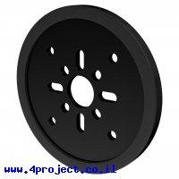 """גלגל דיסק 72 מ""""מ לתבנית goBILDA - שחור - זוג"""