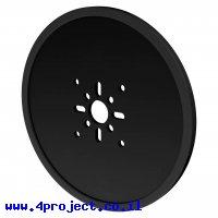 """גלגל דיסק 120 מ""""מ לתבנית goBILDA - שחור - זוג"""