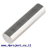 """מוט פלדה 1/4"""" (6.35 מ""""מ) בצורת D - אורך 1.00"""" (25.4 מ""""מ)"""