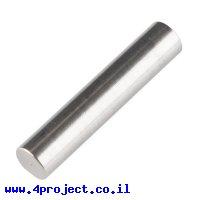 """מוט פלדה 1/4"""" (6.35 מ""""מ) בצורת D - אורך 1.25"""" (31.75 מ""""מ)"""