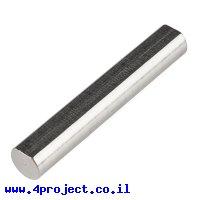 """מוט פלדה 1/4"""" (6.35 מ""""מ) בצורת D - אורך 1.50"""" (38.1 מ""""מ)"""