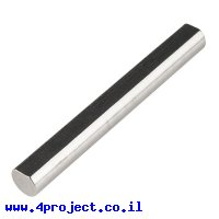 """מוט פלדה 1/4"""" (6.35 מ""""מ) בצורת D - אורך 2.00"""" (50.8 מ""""מ)"""