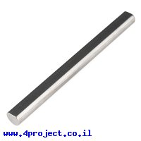 """מוט פלדה 1/4"""" (6.35 מ""""מ) בצורת D - אורך 2.75"""" (69.85 מ""""מ)"""
