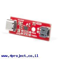 מטען סוללות LiPoly תא אחד פלוס - USB-C