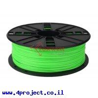 פלסטיק למדפסת תלת-מימד - ירוק נאון - PLA 1.75mm