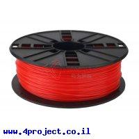 פלסטיק למדפסת 3D - אדום נאון - PLA 1.75mm