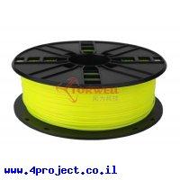 פלסטיק למדפסת תלת-מימד - צהוב נאון - PLA 1.75mm