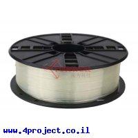 פלסטיק למדפסת 3D - שקוף - PLA 1.75mm
