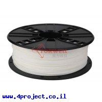 פלסטיק למדפסת תלת-מימד - לבן - PLA 1.75mm