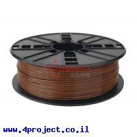 פלסטיק למדפסת 3D - חום - PLA 1.75mm