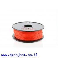פלסטיק למדפסת 3D - אדום נאון - ABS 3.0mm