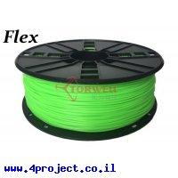 פלסטיק למדפסת 3D - ירוק - גמיש 1.75mm