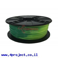 פלסטיק למדפסת תלת-מימד - מחליף צבע - PLA 1.75mm - כחול/ירוק - צהוב/ירוק