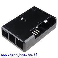 מארז לכרטיסי Raspberry PI דגם B+ - פלסטיק שחור Pi Tin