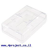 מארז פלסטיק לכרטיסי Raspberry PI דגם B+ - שקוף Pi Tin