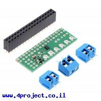 בקר מנוע DC ל-2 מנועים עד 1.2A - רכיב DRV8835 - צורת תוסף ל-Raspberry PI