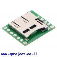 כרטיסון עם מחבר כרטיסי זכרון microSD של Pololu