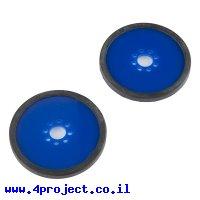 """גלגל פלסטיק 76.2 מ""""מ (3"""") לתבנית חורים 0.770"""" - כחול - זוג"""