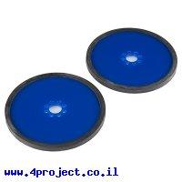 """גלגל פלסטיק 101.6 מ""""מ (4"""") לתבנית חורים 0.770"""" - כחול - זוג"""