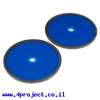 """גלגל פלסטיק 127 מ""""מ (5"""") לתבנית חורים 0.770"""" - כחול - זוג"""