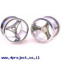 """גלגל 3 זרועות 55.88/49.78 מ""""מ (2.2""""/1.96"""") - דמוי כרום"""