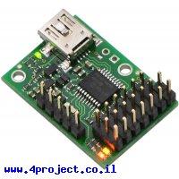 בקר מנוע סרוו 6 ערוצים מורכב - USB/TTL