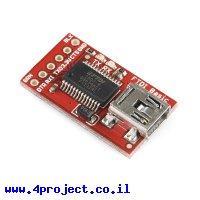 צורב Arduino - כרטיס FTDI Basic 3.3V בלי מחבר 6 פינים