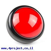 כפתור כיפה גדולה - אדום