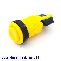 """כפתור שקוע 35 מ""""מ - צהוב"""