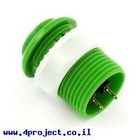 """כפתור לחיצה 33 מ""""מ - ירוק"""