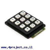 לוח מקשים - 12 כפתורים לבנים