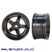 """גלגל 5 זרועות 55.88/27.94 מ""""מ (2.2""""/1.1"""") - שחור"""