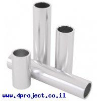 """צינור אלומיניום 25.4 מ""""מ (1"""") - אורך 127 מ""""מ (5.00"""")"""