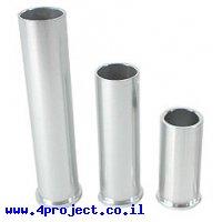 """צינור אלומיניום בעל שפה 25.4 מ""""מ (1"""") - אורך 85.73 מ""""מ (3.375"""")"""